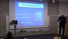 Idor Svensson på SDK-konferensen