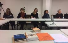 På bilden: deltagare i workshopen om skönlitteratur