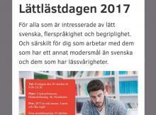 Screen shot av Lättlästdagens hemsida.