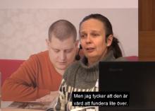 Bild på Åsa Wengelin under seminariet