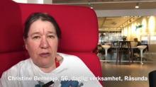 Skärmdump från video med christine