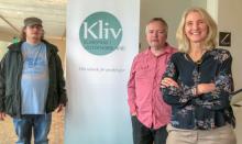 Max, Stefan och Ester vid vepa för Klartext i Västernorrland.